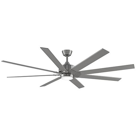 "72"" Fanimation Levon DC Brushed Nickel LED Ceiling Fan"