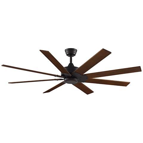 """63"""" Fanimation Levon DC Dark Bronze - Walnut Ceiling Fan"""