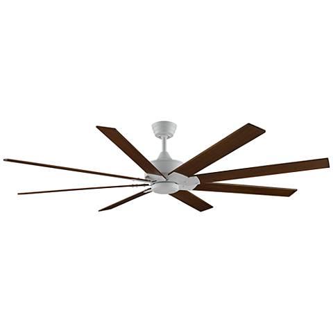 "72"" Levon DC Matte White - Cherry/Walnut Ceiling Fan"