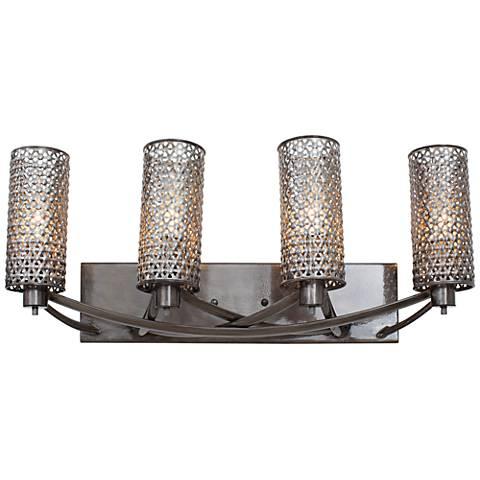"Varaluz Casablanca 24"" Wide Hand-Applied Steel Bath Light"