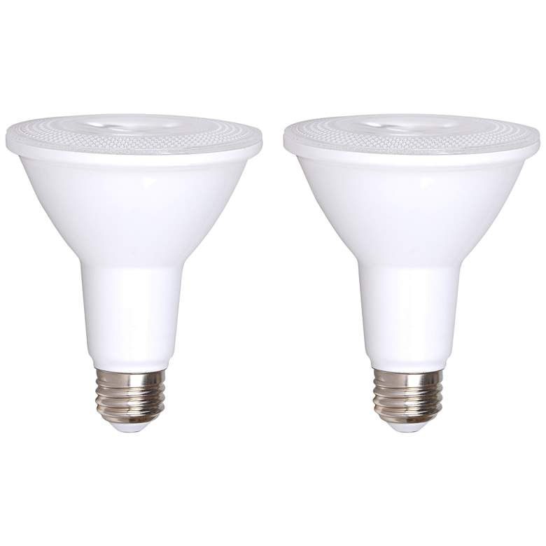75W Equivalent Bioluz Frosted 12W LED Dimmable PAR30 2-Pack