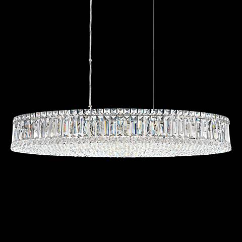 "Schonbek Plaza Swarovski Crystal 34"" Wide Pendant Light"