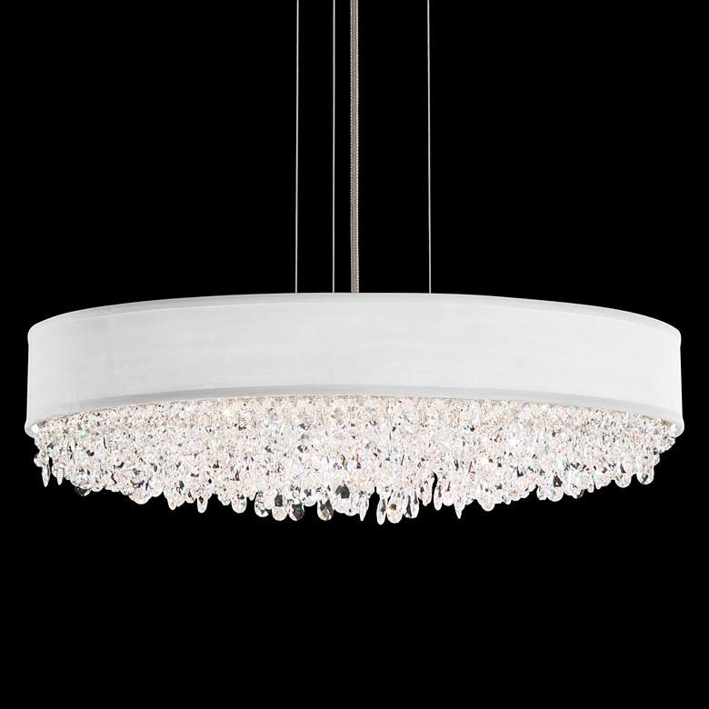 "Eclyptix 24"" Wide Oval Crystal Pendant Chandelier"