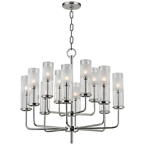 "Hudson Valley Wentworth 25"" Wide Polished Nickel Chandelier"