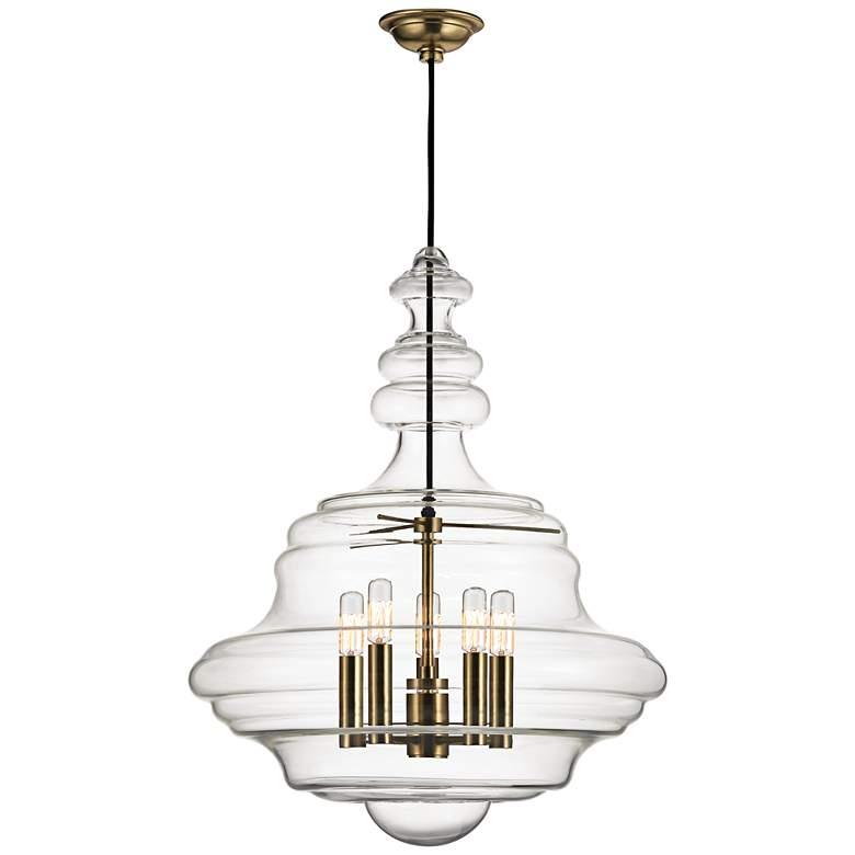 "Hudson Valley Washington 20"" Wide Aged Brass Pendant Light"