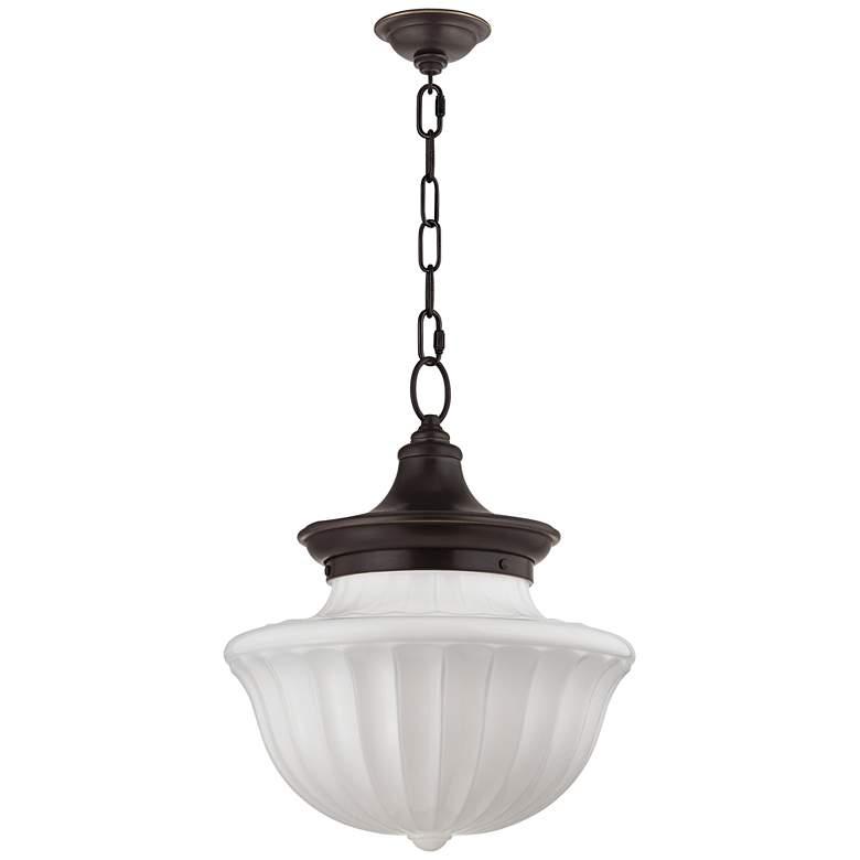 "Hudson Valley Dutchess 15"" Wide Old Bronze Pendant Light"