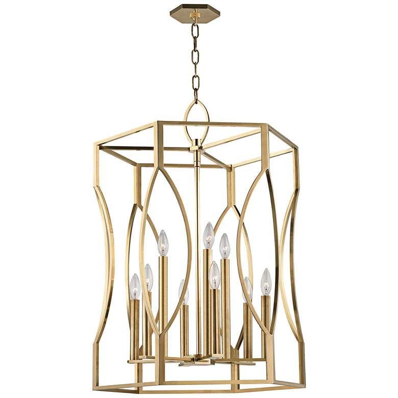 "Hudson Valley Roswell 23"" Wide Aged Brass Pendant Light"