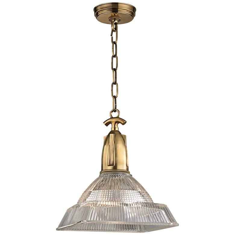 "Hudson Valley Langdon 11"" Wide Aged Brass Mini Pendant"