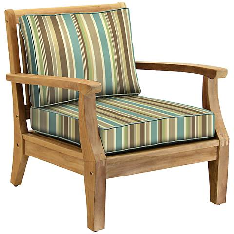 Woodbury Sea Glass Spa Teak Wood Outdoor Club Chair