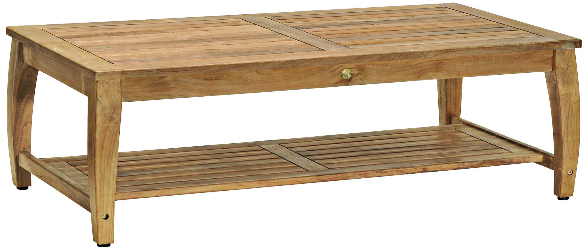 Woodbury Rectangular Natural Teak Wood Coffee Table