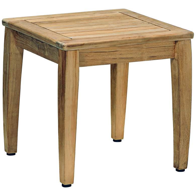 Woodbury Square Natural Teak Wood End Table