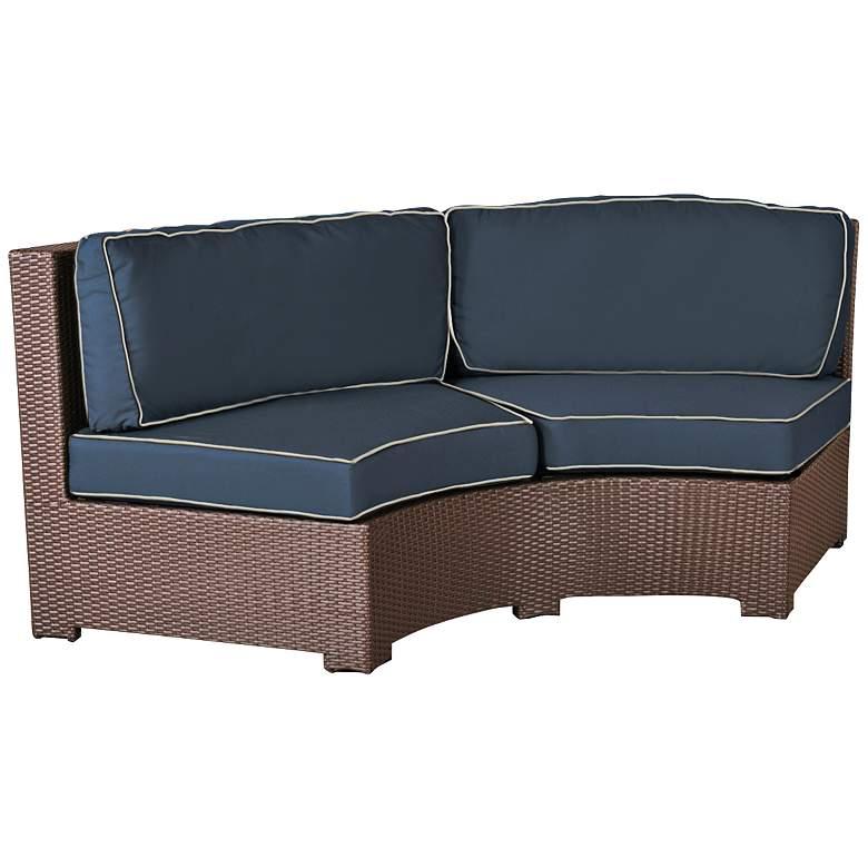 Elements Weave Spectrum Indigo Curved Outdoor Sofa