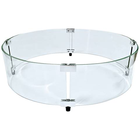 Elements Round Fire Table Glass Wind Screen