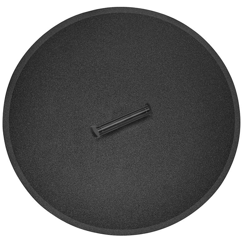 Elements Black Steel Round Fire Table Lid with