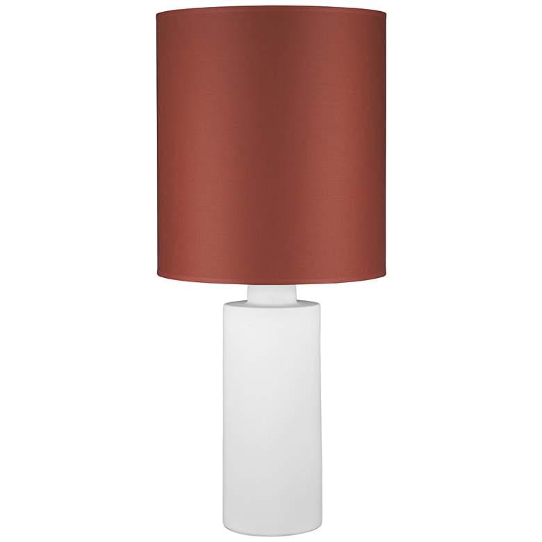 Circa White Ceramic Table Lamp with Burnish Chintz