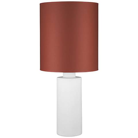 Circa White Ceramic Table Lamp with Burnish Chintz Shade