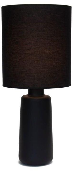 Circa Cast Iron Ceramic Table Lamp With Black Shade
