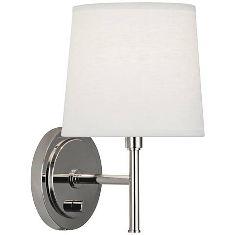 Robert Abbey Bandit Polished Nickel Plug-In Wall Sconce
