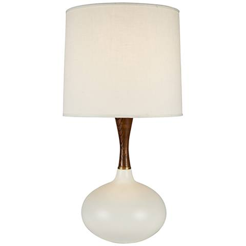 Pops Deluxe Bisque Ceramic Table Lamp with Ivory Shade