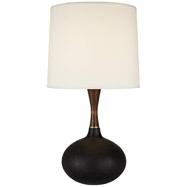 Pops Deluxe Cast Iron Ceramic Table Lamp with Ivory Shade