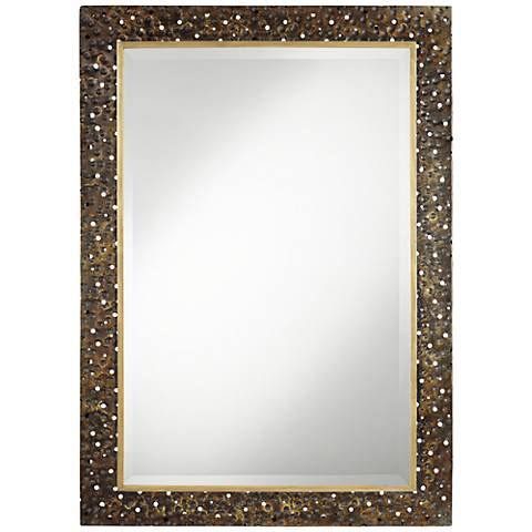"Khalil Dark Bronze 30"" x 40"" Rectangular Wall Mirror"