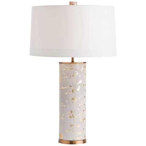 Sheena Gold Leaf and Acid Etched Animal Hide Table Lamp