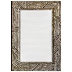 """Uttermost Fortuo Wood 32"""" x 44"""" Rectangle Wall Mirror"""