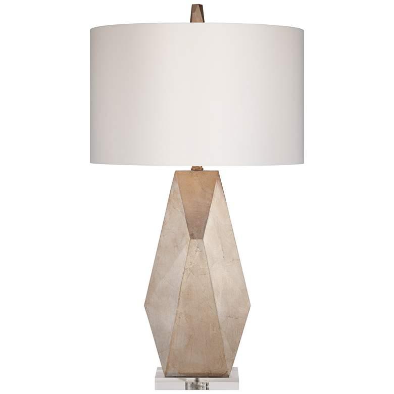Possini Euro Champagne Gold Geometric Table Lamp