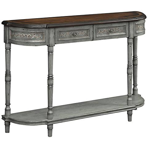 "Markham Gray-Brown 52 1/2"" Wide 2-Drawer Console Table"
