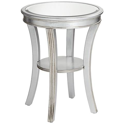 Brookhurst Kenney Silver Leaf Round Accent Table