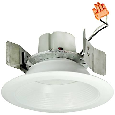 "5"" Nora 16.6 Watt 3000K LED Retrofit Baffle Trim in White"