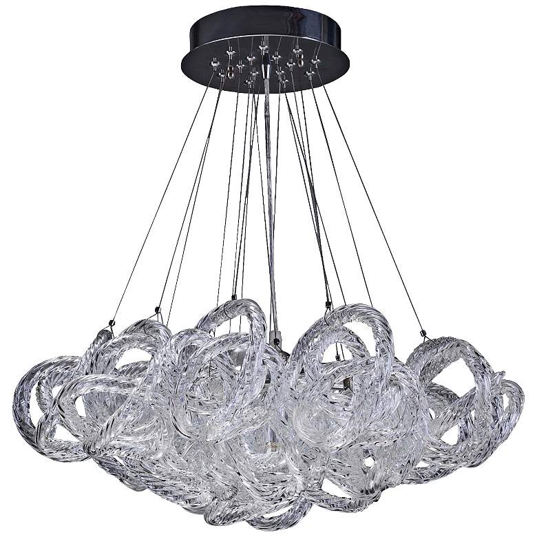 "Infinity 18"" Wide Clear Italian Glass 5-light Pendant"
