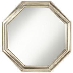 """Chancellor Silver 30 1/4"""" x 30 1/4"""" Octagon Wall Mirror"""