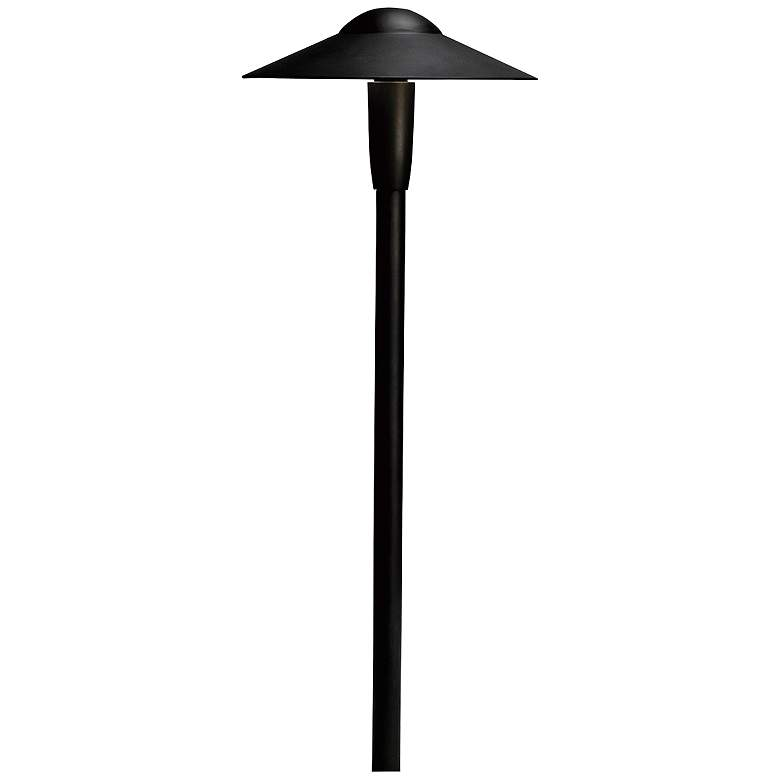 "Kichler Landscape 22""H 2700K LED Black Dome Path"