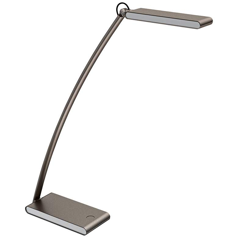 Carlys Silver Finish LED Touch Desk Lamp