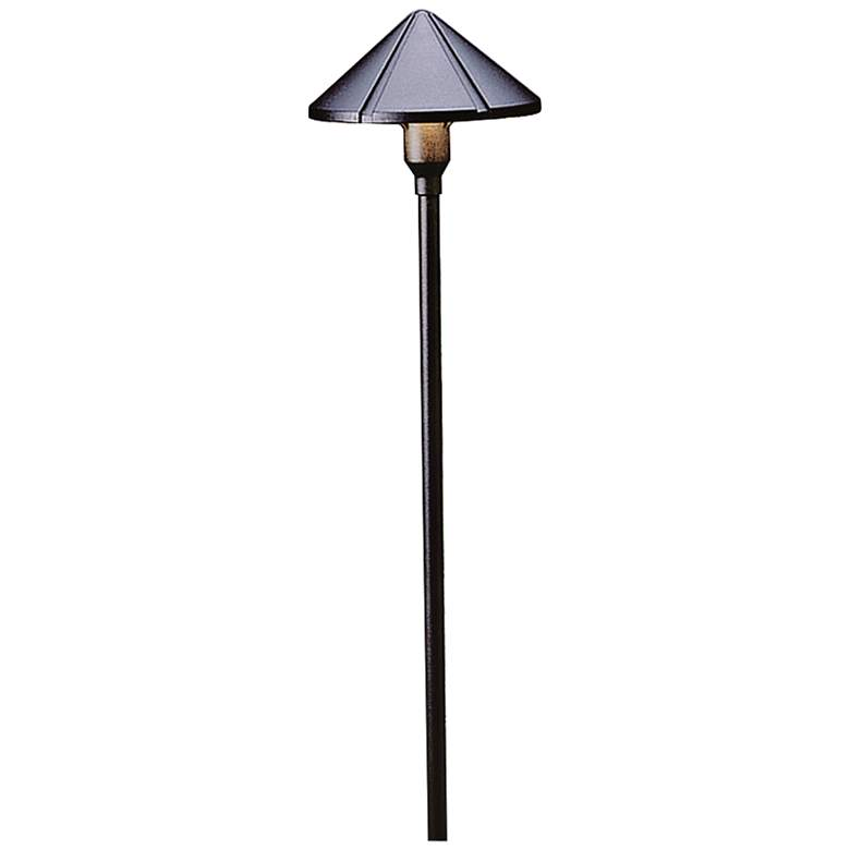 "Kichler Landscape Ridged 22""H Black 2700K LED Path"