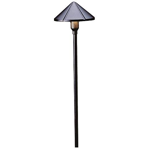 "Kichler Landscape Ridged 22""H Black 2700K LED Path Light"