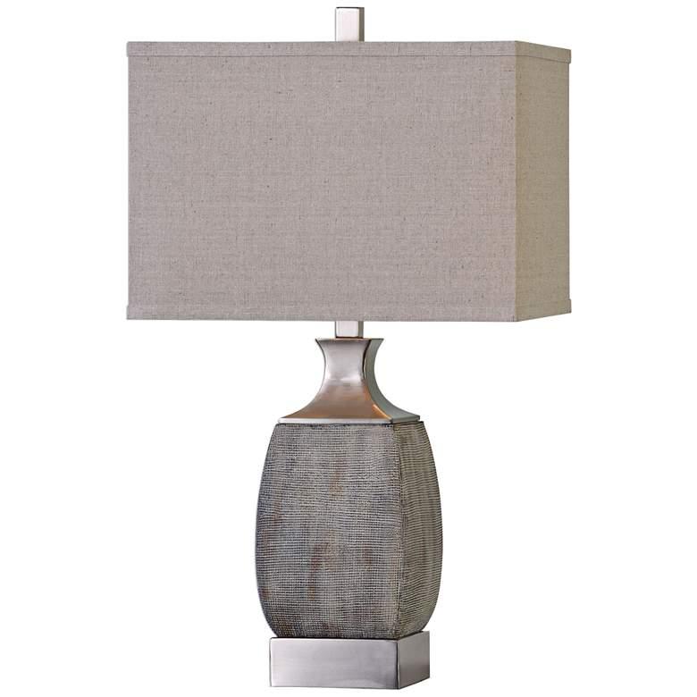 Uttermost Caffaro Textured Rust Bronze Ceramic Table Lamp