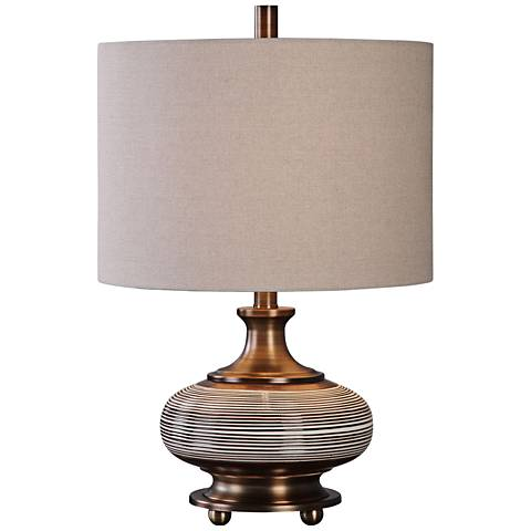 Uttermost Strona Rust Bronze Ceramic Table Lamp