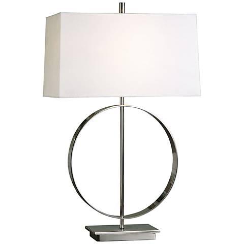 Uttermost addison polished nickel table lamp 1g168 lamps plus uttermost addison polished nickel table lamp aloadofball Choice Image