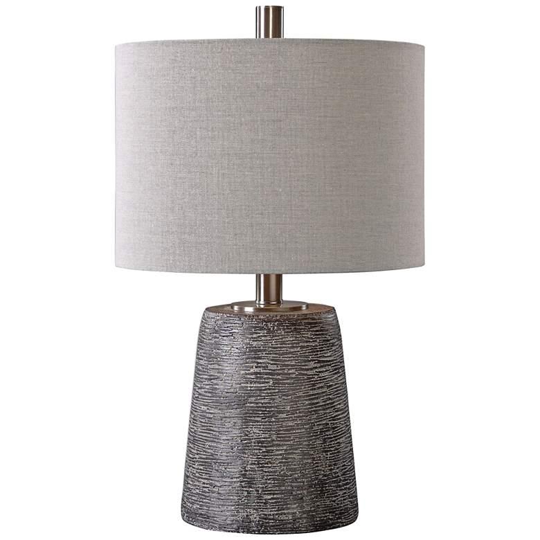 Uttermost Duron Dark Rustic Bronze Ceramic Table Lamp