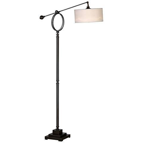 Levisa Dark Bronze Adjustable Floor Lamp by Uttermost