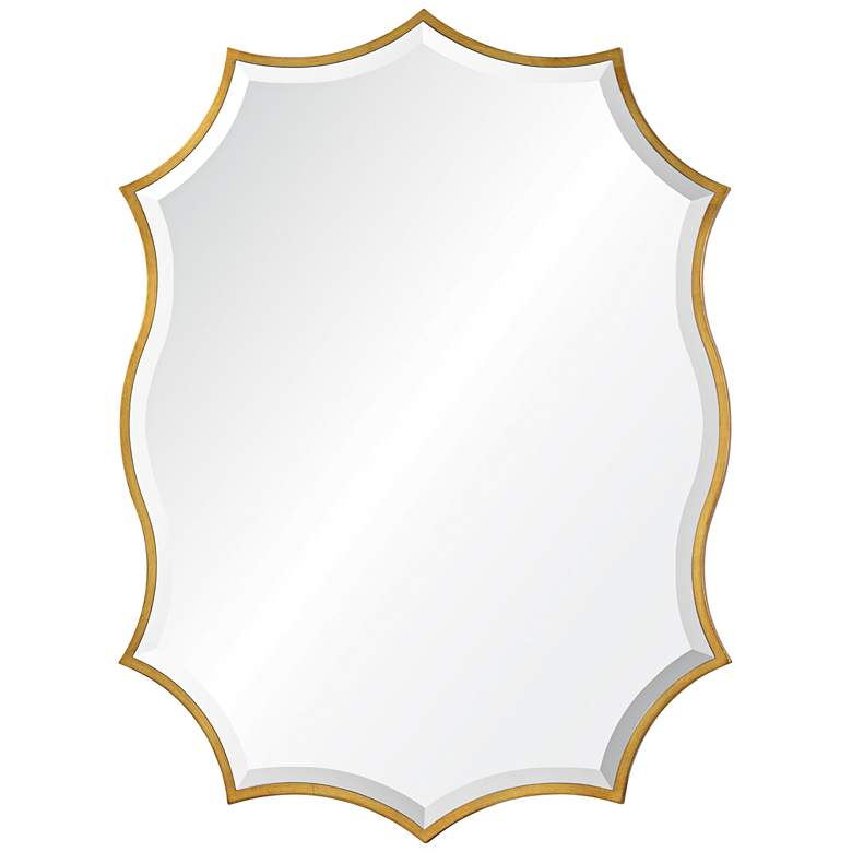 "Cooper Classics Cho Gold 30"" x 40"" Beveled Wall Mirror"