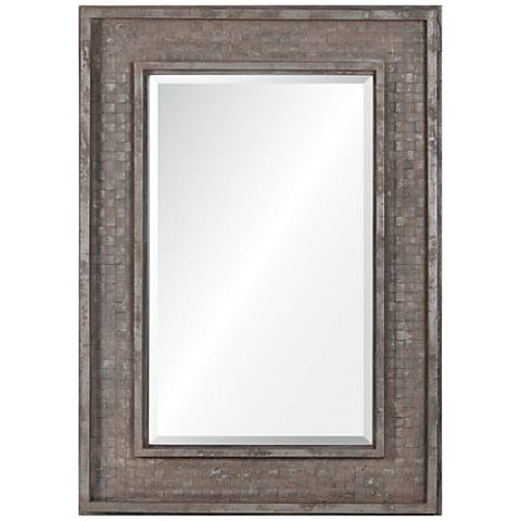 """Pendle Rusted Brown 30"""" x 42"""" Rectangle Wall Mirror"""