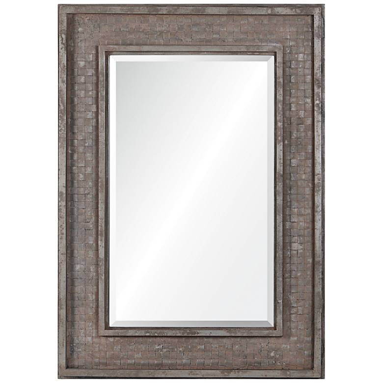 "Pendle Rusted Brown 30"" x 42"" Rectangle Wall Mirror"