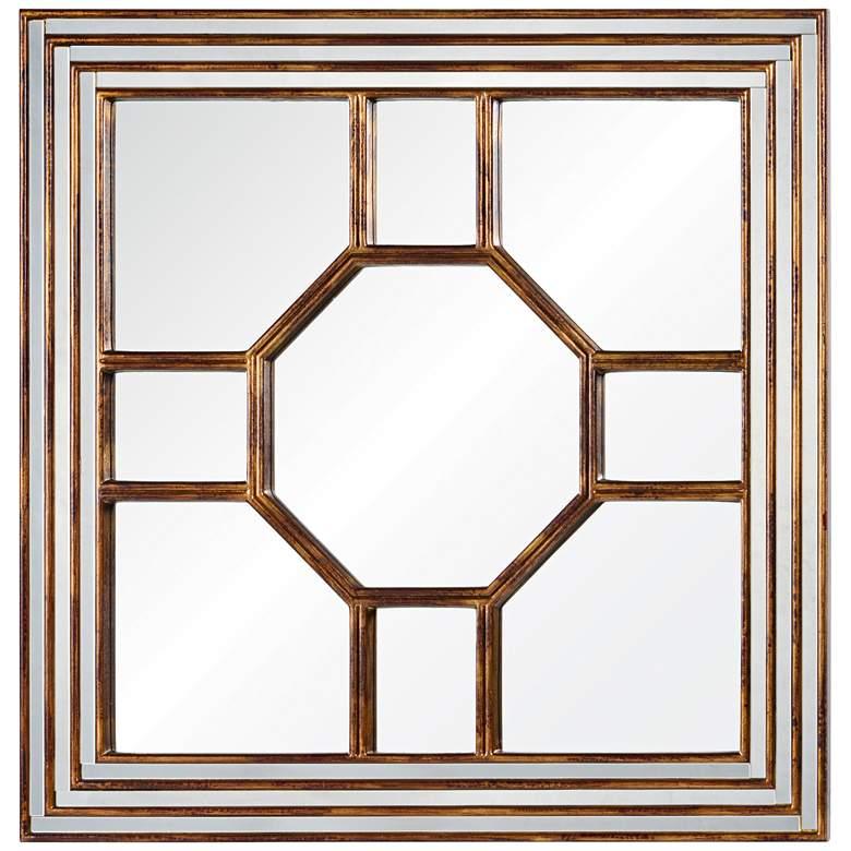 """Cooper Classics Arabella Gold 40"""" Square Wall Mirror"""