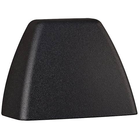 """Kichler 4-Corners 3 1/4"""" Wide Black 2700K LED Deck Light"""