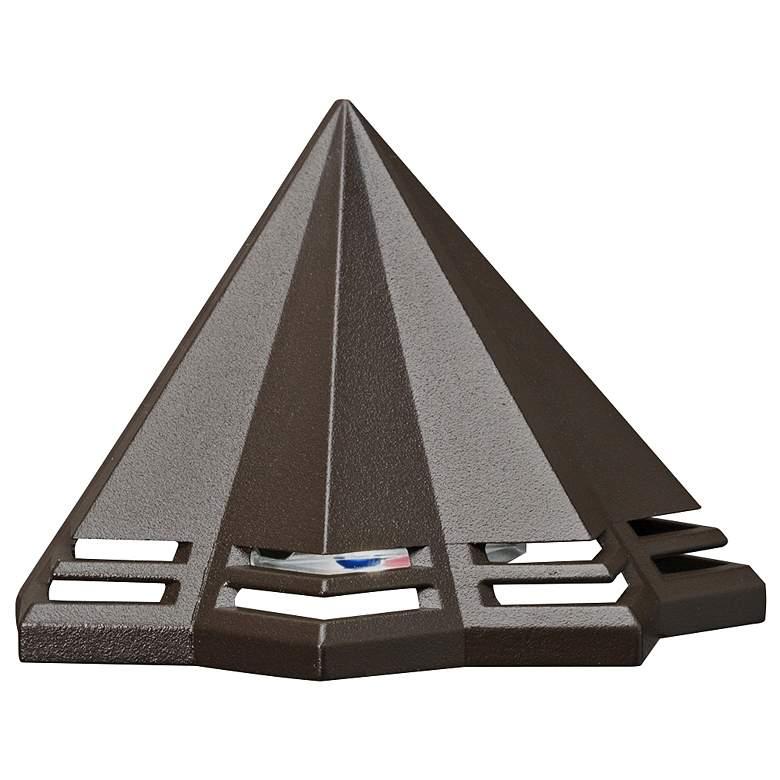 "Kichler Perforated 3 1/2""W Bronze 3000K LED Deck Light"