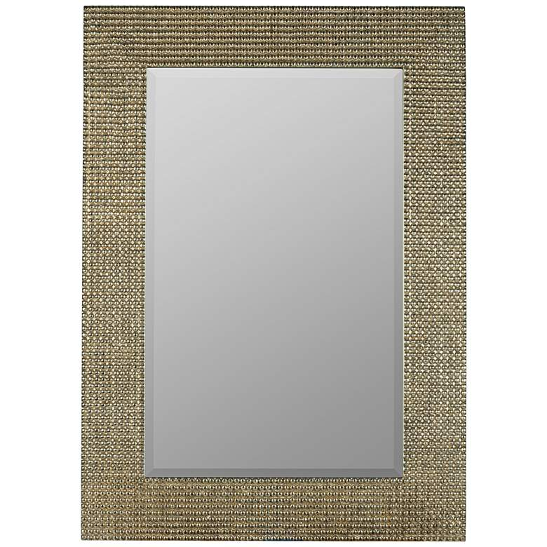 "Tymon Tarnished Silver 30"" x 42"" Rectangular Wall Mirror"