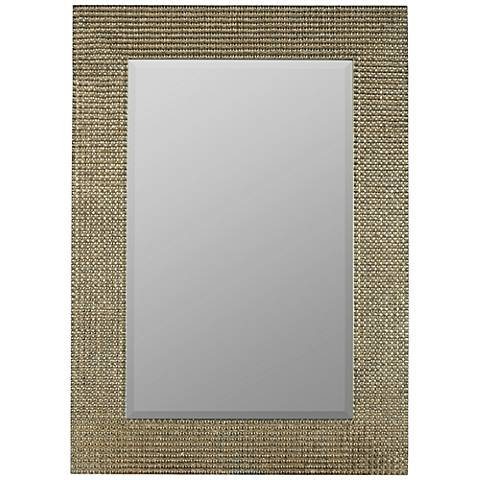 "Tymon Tarnished Silver 30"" x 42"" Rectangle Wall Mirror"